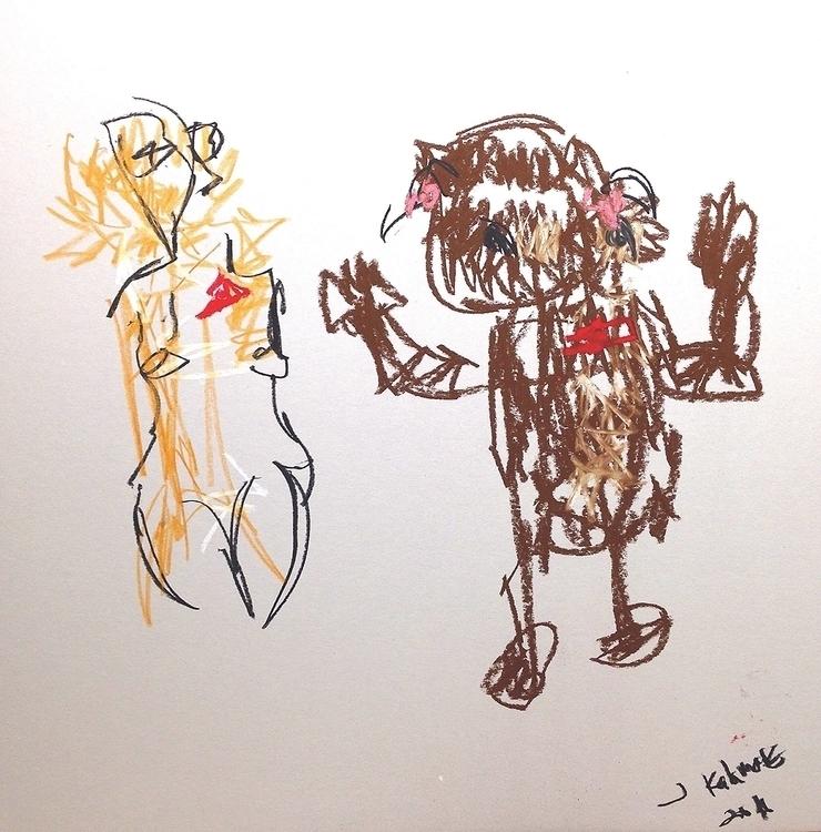 Woman Bear - art - jkalamarz | ello
