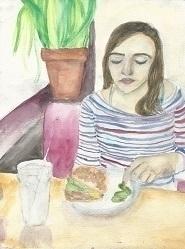 10x12 Watercolor amiga date 201 - helensanchez | ello