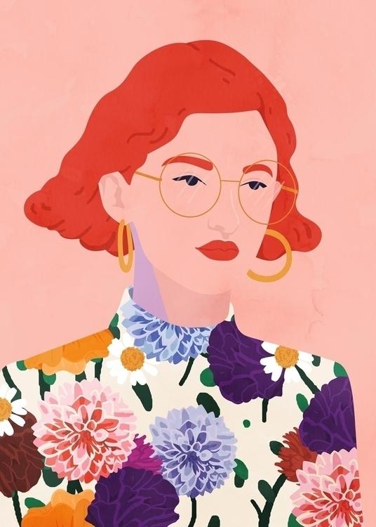 Primavery style - illustration, fashionillustration - petraerikssonstudio | ello