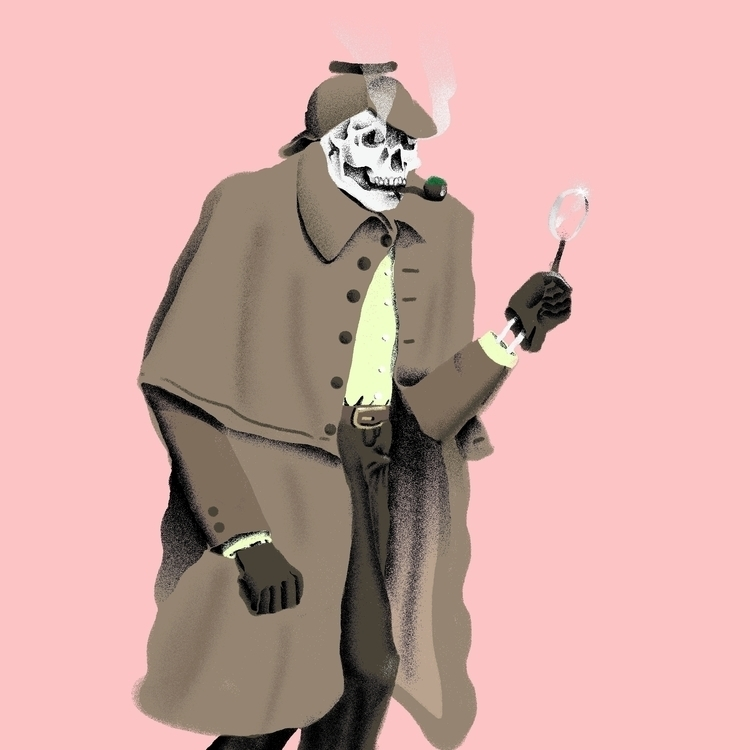 Sherlock Bones - illustration, illustrator - richchane | ello