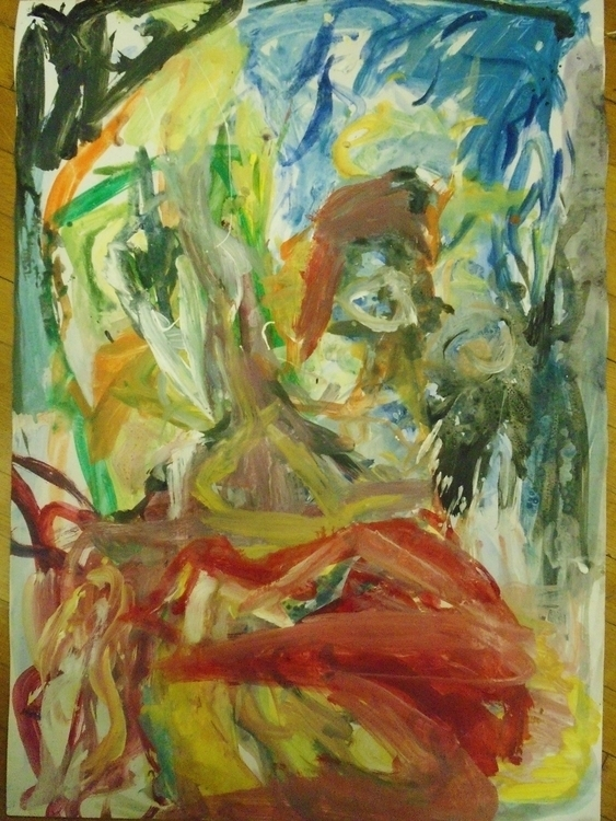run - painting, art, abstract, expressionism - giannisrallis | ello