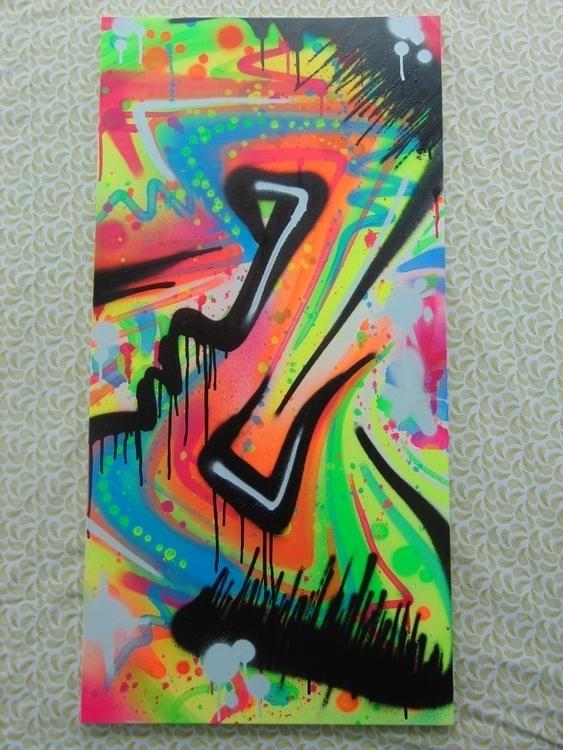 Electric Spray paint canvas. UV - wackyworldcreations | ello