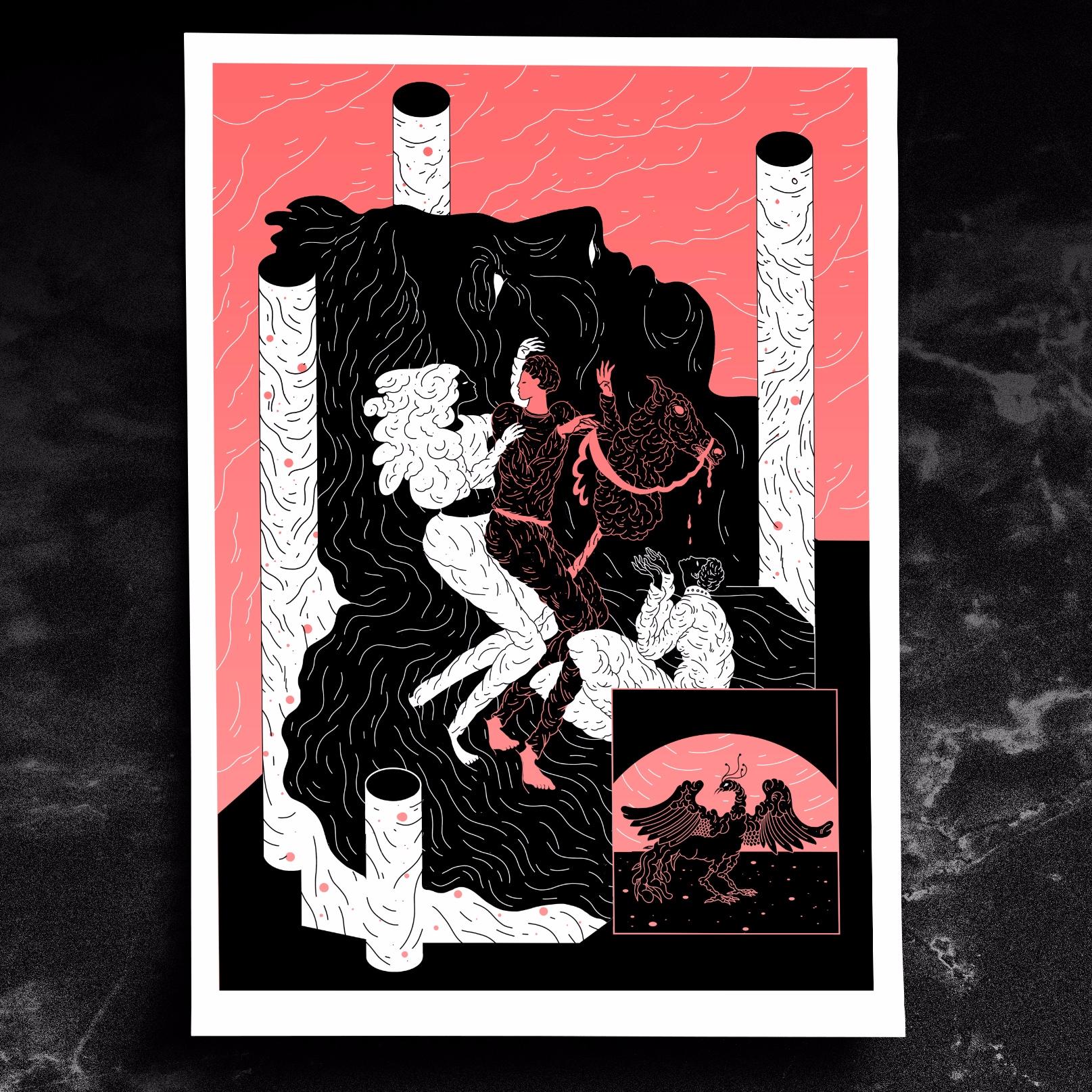 La Quête - illustration, art, print - julien_brogard | ello