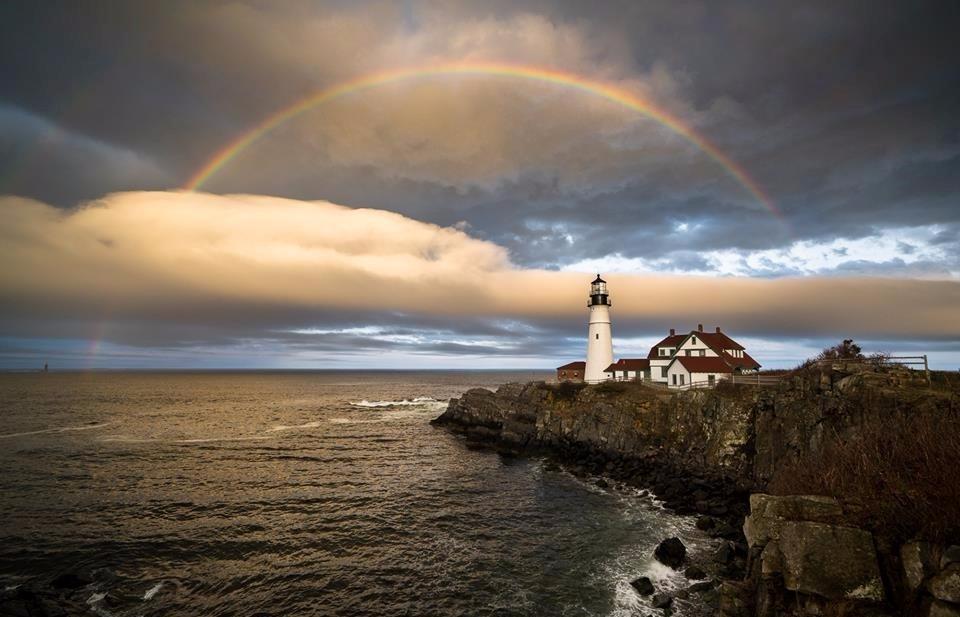 Rainbow Portland Head Light - tbiveteran | ello