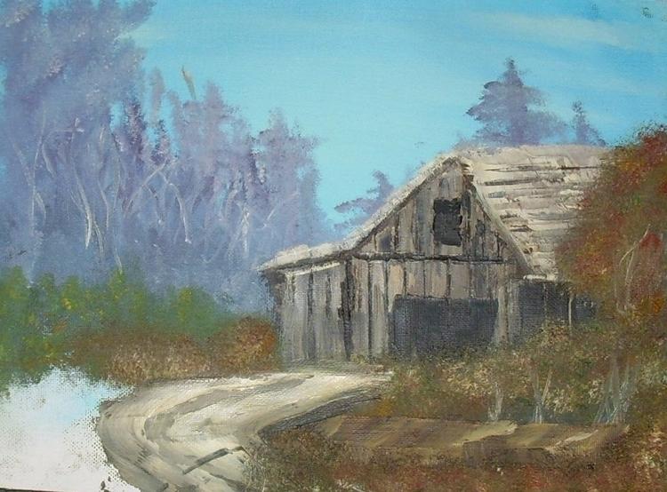 Cabin. oil canvas - gjanney   ello