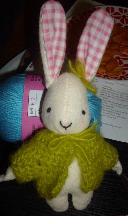 felt rabbit. hand crocheted swe - gjanney | ello