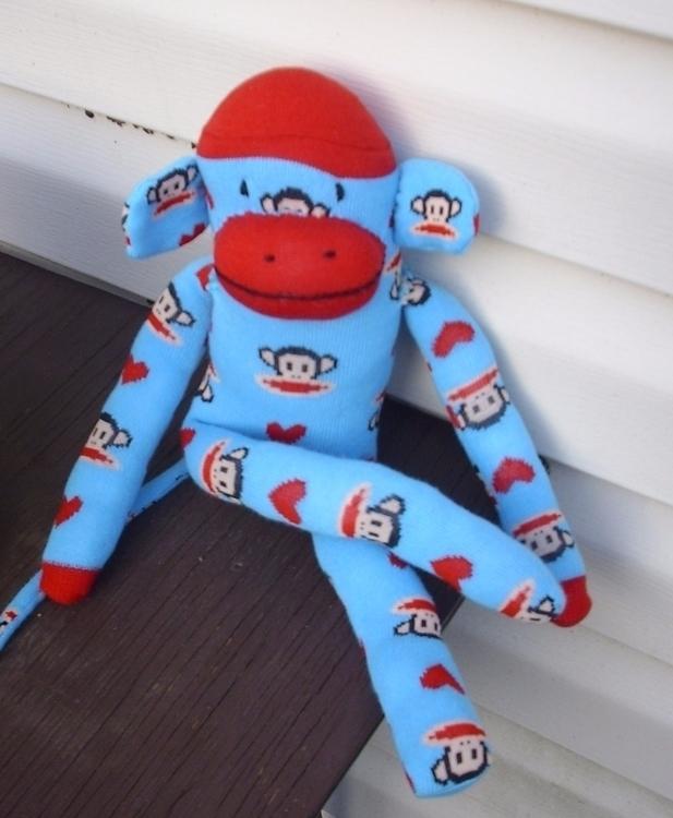 sock monkey. handmade. 14 inche - gjanney | ello