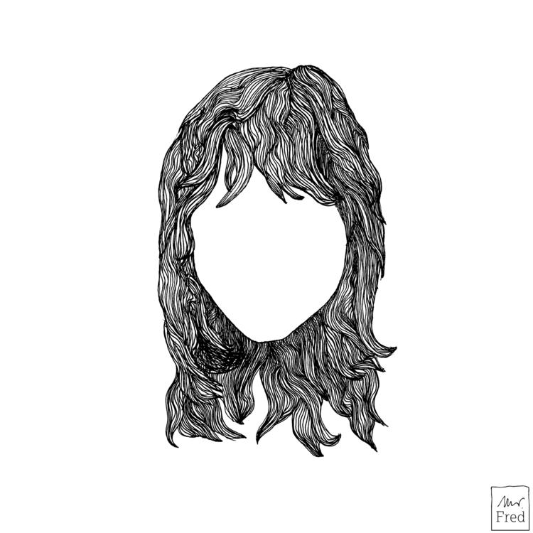 hair - illustration, penandink, handdrawn - mister_fred_berlin   ello