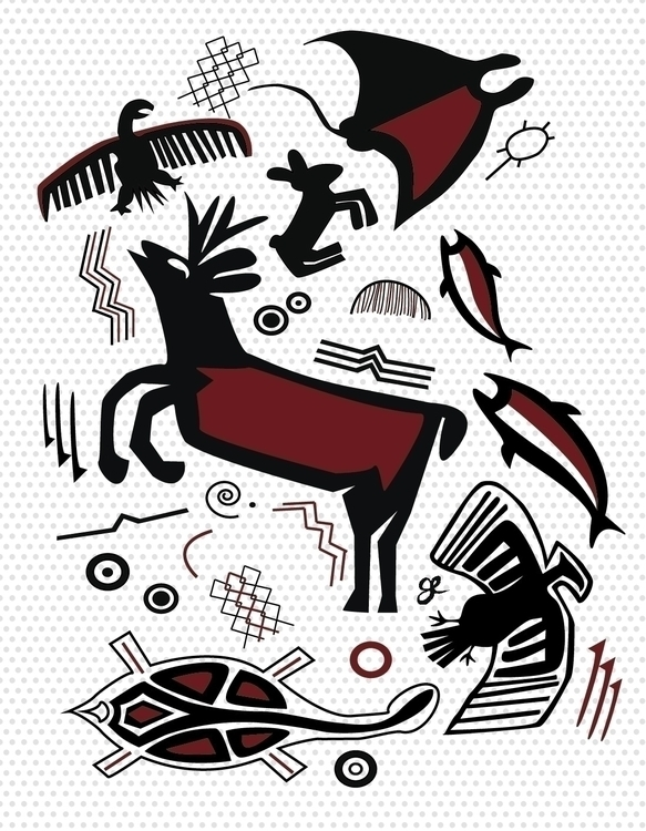 Cave Paint - illustration, characterdesign - kumavilla | ello