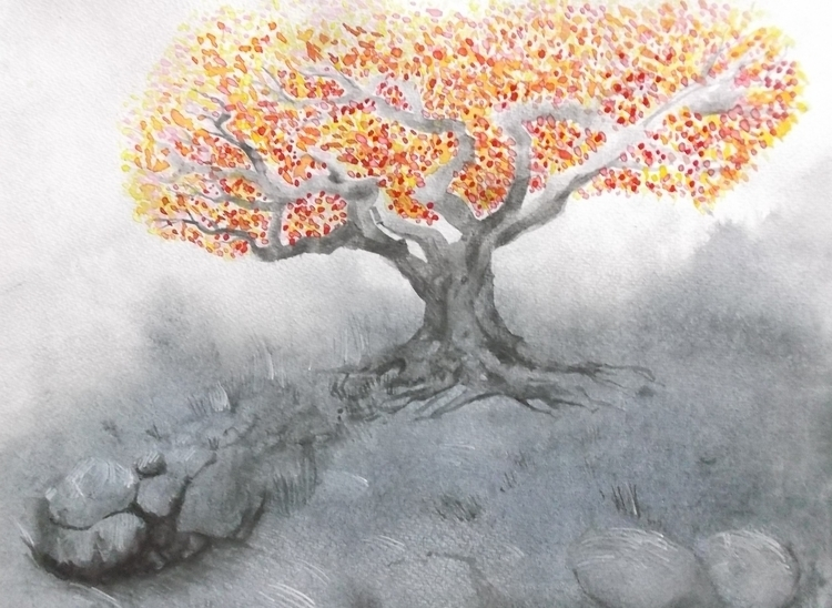 Tree Watercolour - euric | ello