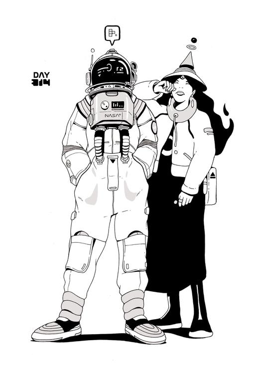 Day 314/365: Space - illustration - 1sles | ello