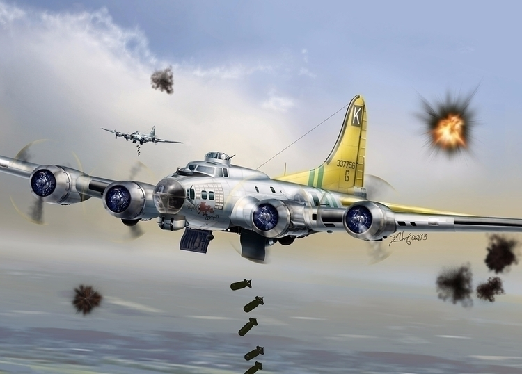 Boeing B17 - Photoshop - aviationart - nanogeist | ello