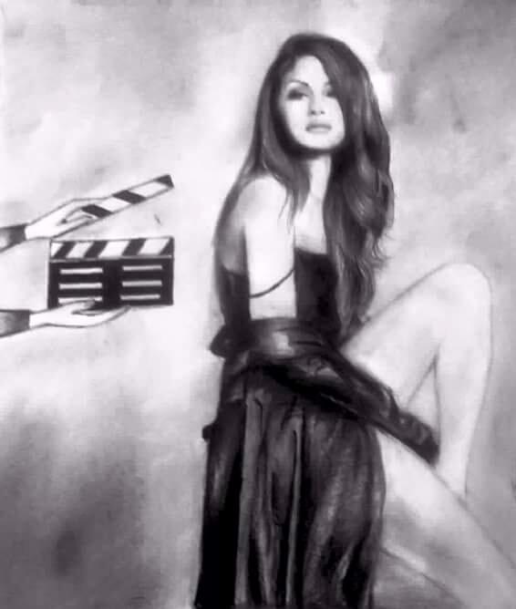 Sketch Selena Gomez kushal kesh - meherkaur | ello