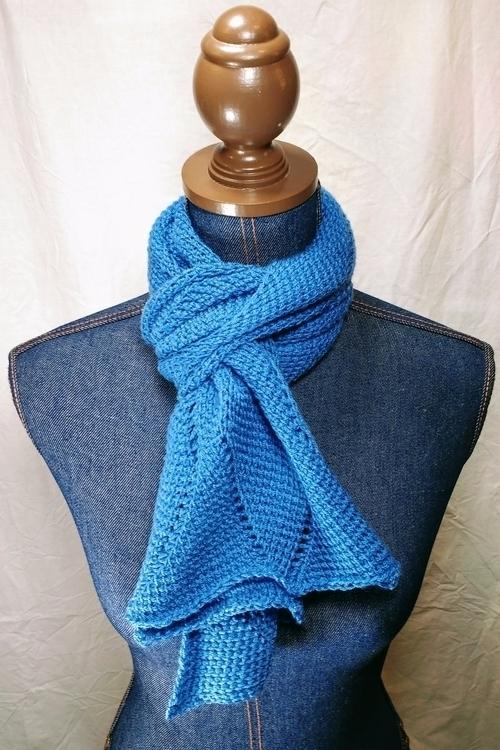 shop: Blue Waves Scarf scarf ge - miniaturemonkeycreations | ello