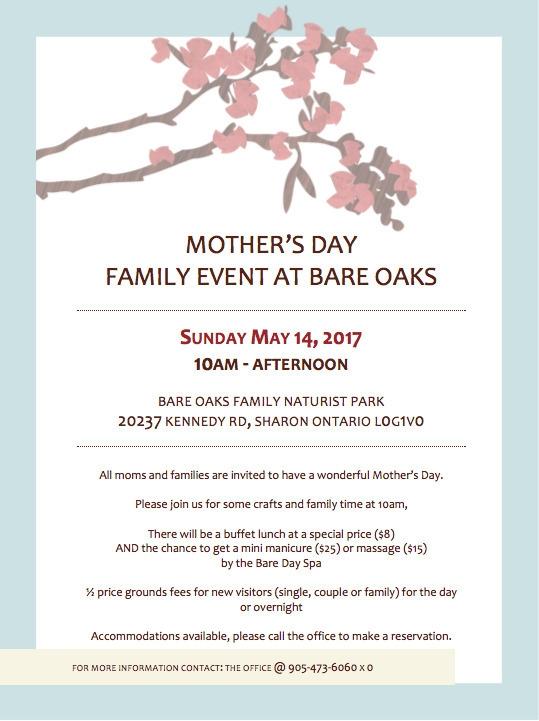 Day Family Event Bare Oaks: Sun - bareoaks | ello