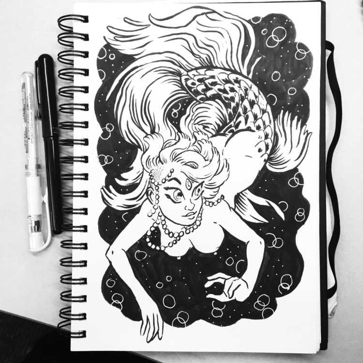 Mermay - mermay, mermaid, ink - royallyeric | ello