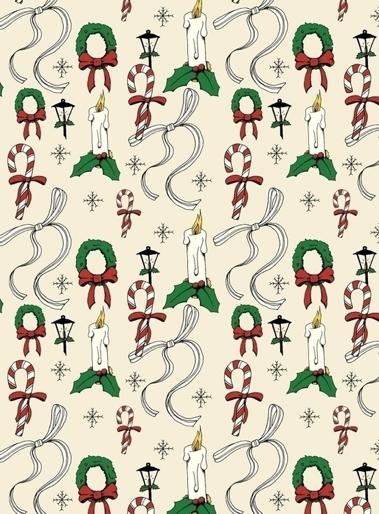 vintage Christmas inspired patt - svaeth | ello