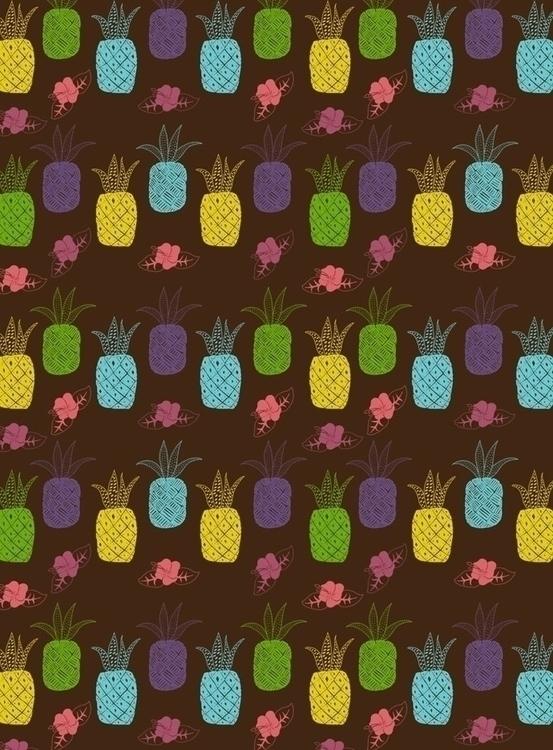 pineapple themed pattern. piece - svaeth | ello