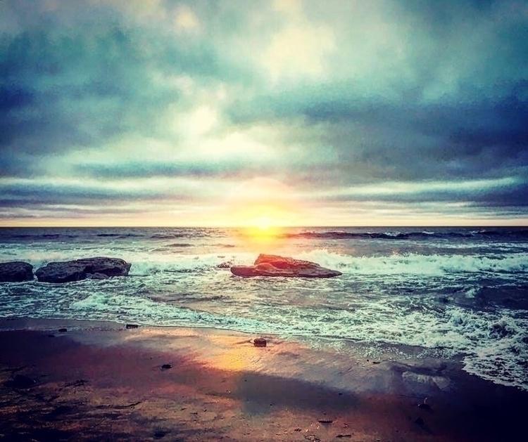 goodnight, sunset, cliffs - mhale | ello