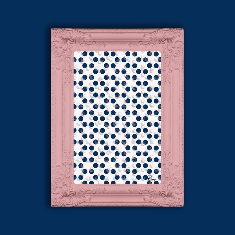 Blue Polka Dots Scribbles - pattern - designdn | ello