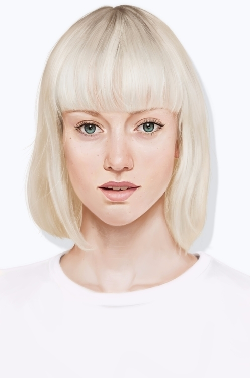 White - portrait, digital, painting - arthurhenrique-7916 | ello