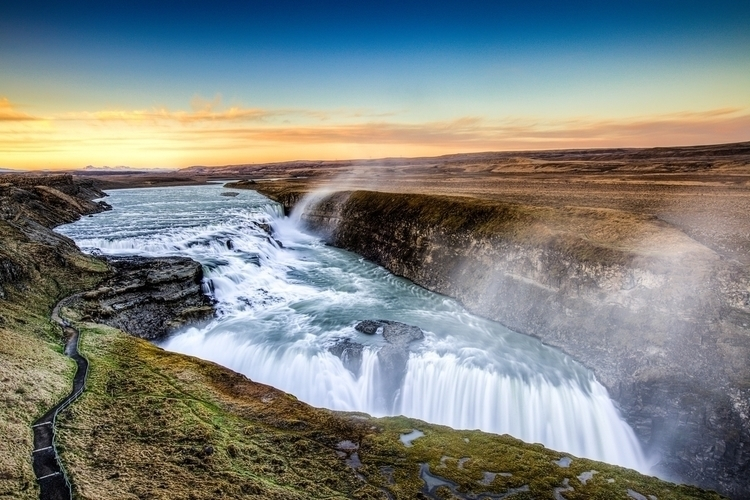 town Gulfoss, icon nature, beau - bustraveliceland | ello