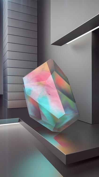 Crystal Series: Titanium - iridiscent - molistudio | ello
