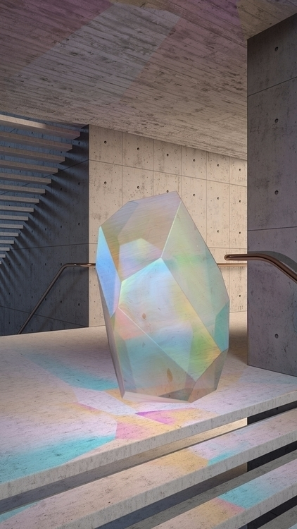 Crystal Series: Concrete - iridiscent - molistudio | ello