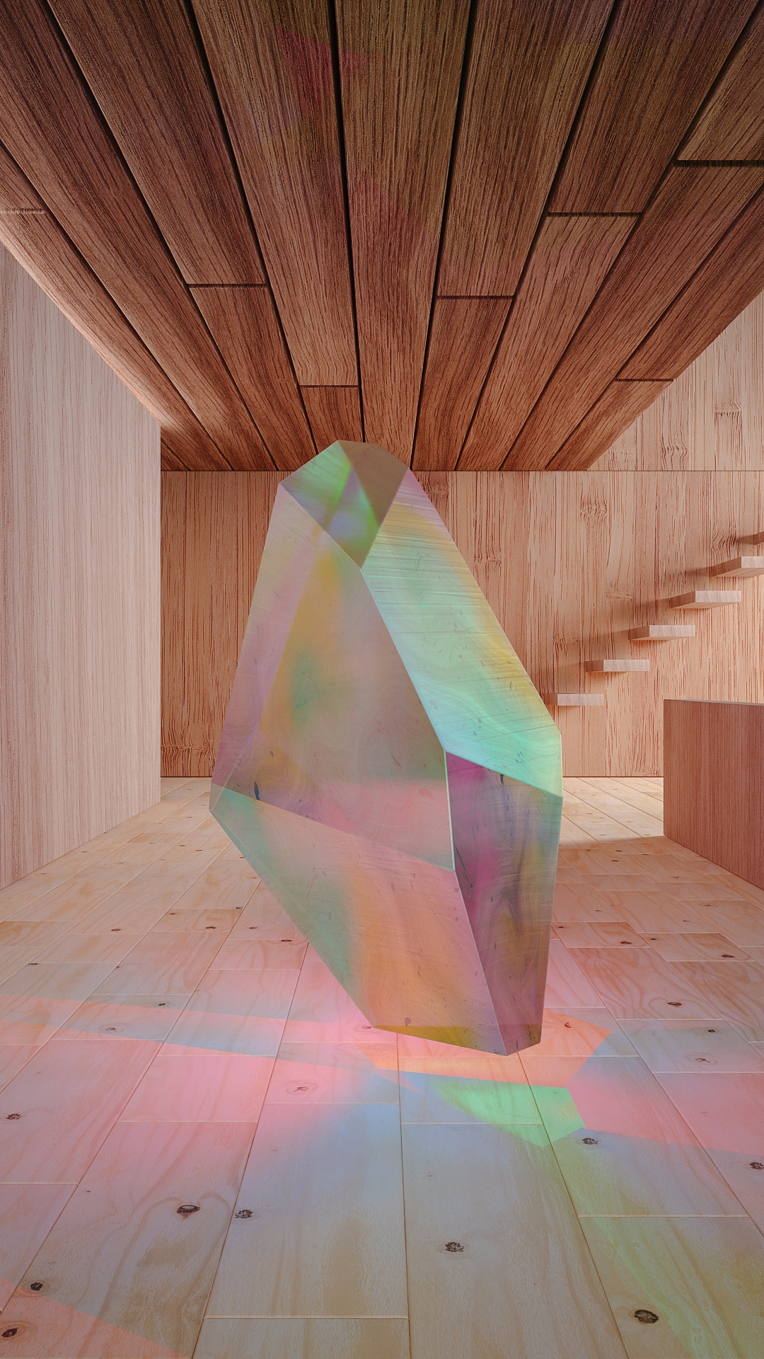 Crystal Series: Wood - iridiscent - molistudio | ello