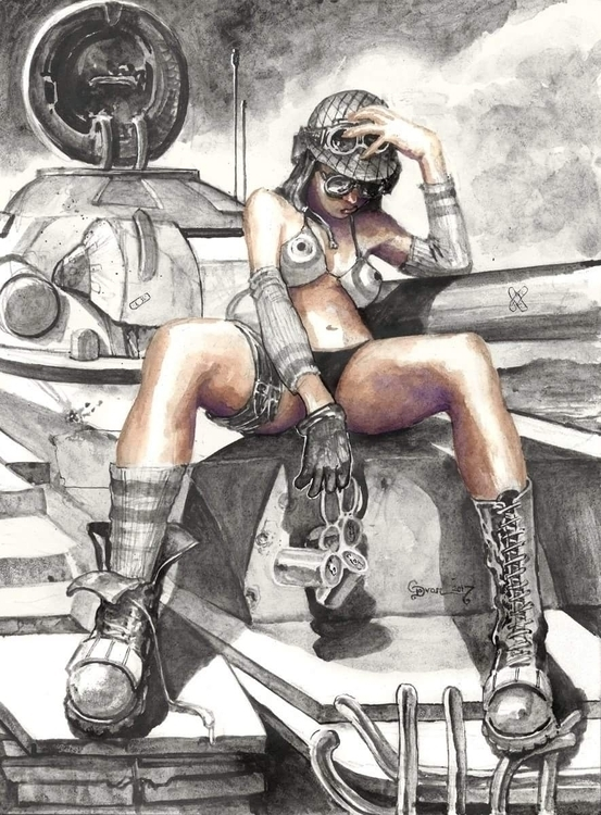 tankgirl, illustration, art - ukimalefu | ello