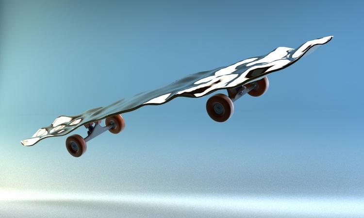 skate, ello3d, digitalart, c4d - alexmaggi | ello