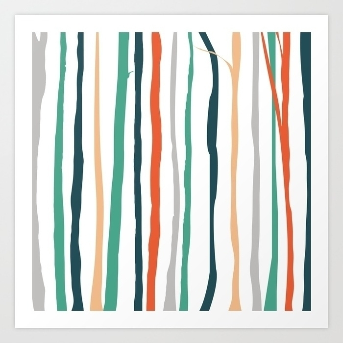 colored, forest, trees, colours - miideegrafiche | ello