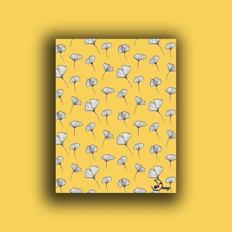 Ginkgo Biloba Leaves Pattern Bo - designdn | ello