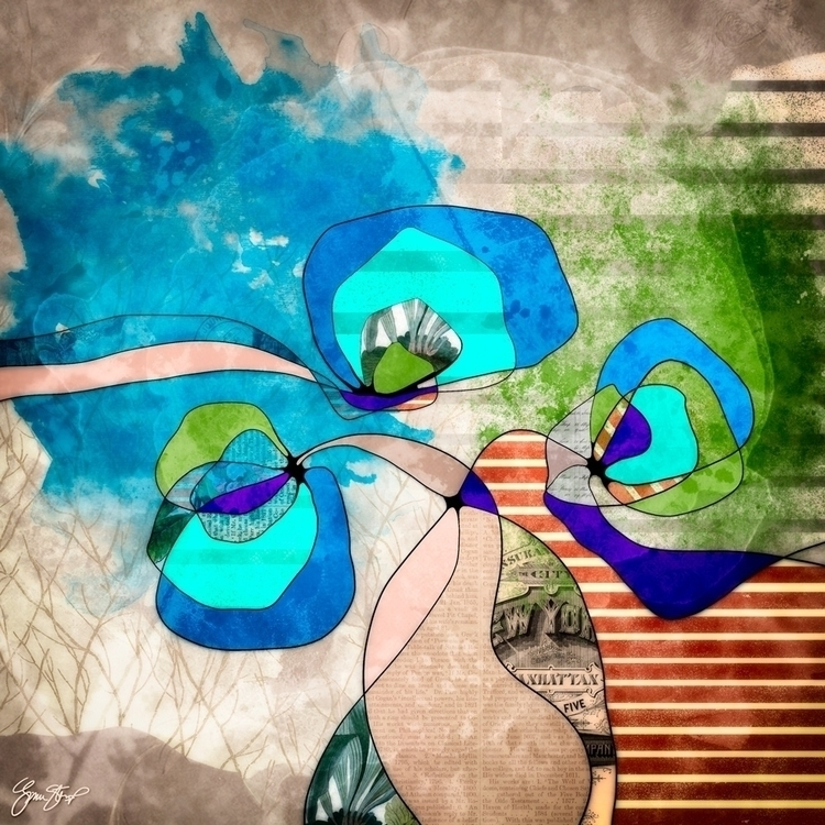 Librarian - collage, art, abstract - ginastartup   ello