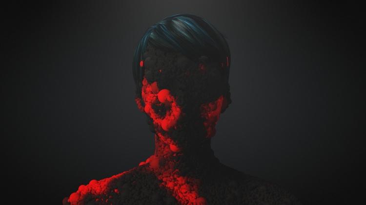 Particle Face  - cinema4d, octanerender - vrtxmotion | ello