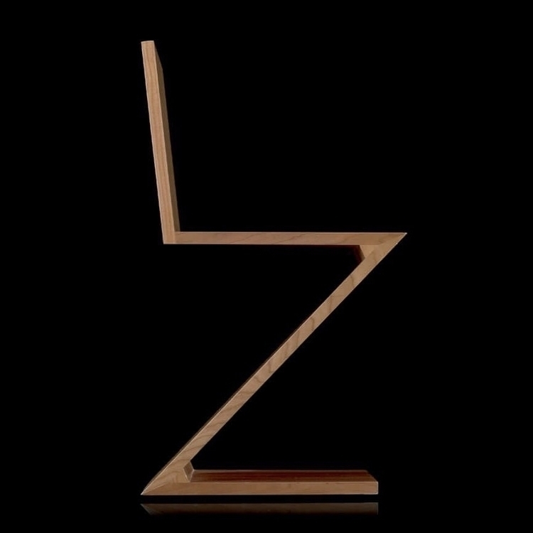 Gerrit - 1934 - ZIGZAG, CHAIR, Rietveld - bauhaus-movement | ello