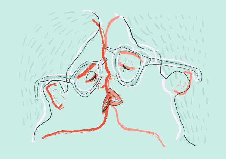 undefined kiss - illustration, digitalpaint - similasti | ello