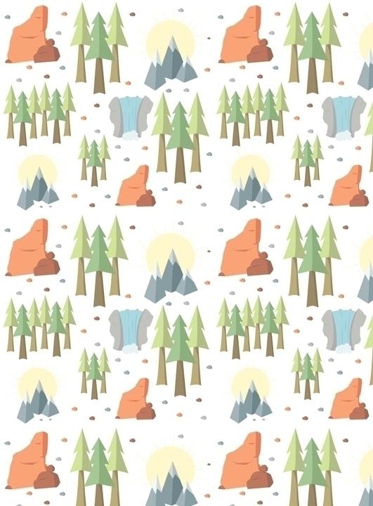 National parks inspired pattern - svaeth | ello