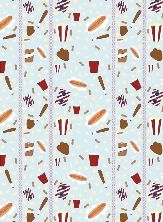 ball park food themed pattern d - svaeth | ello