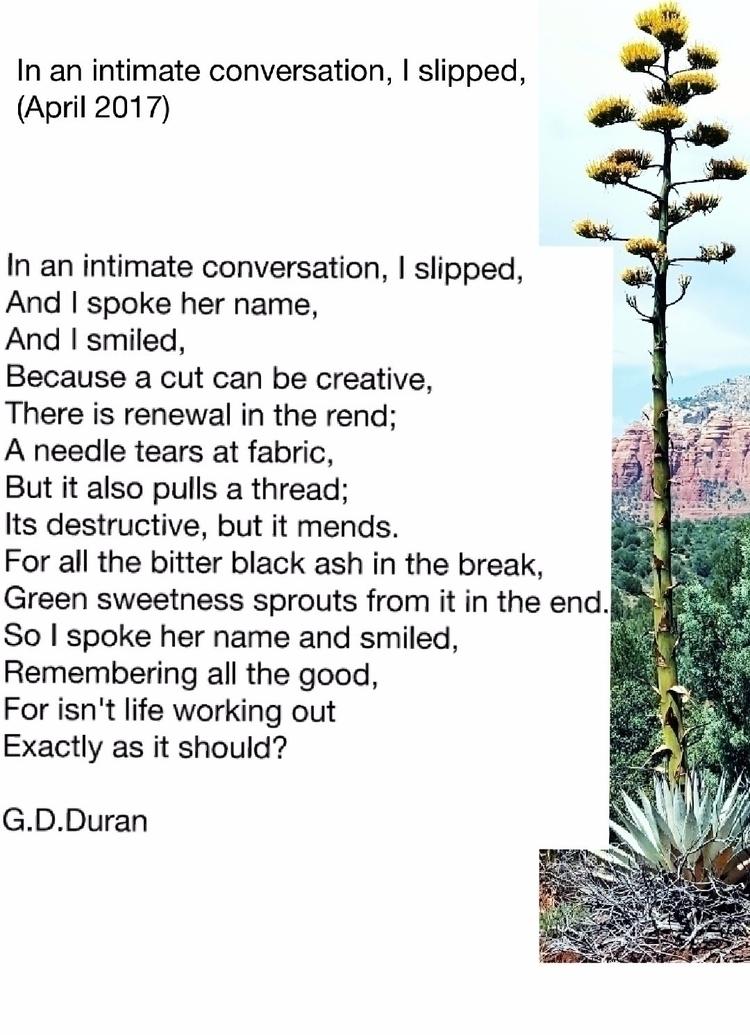 intimate conversation, slipped  - gdduran | ello