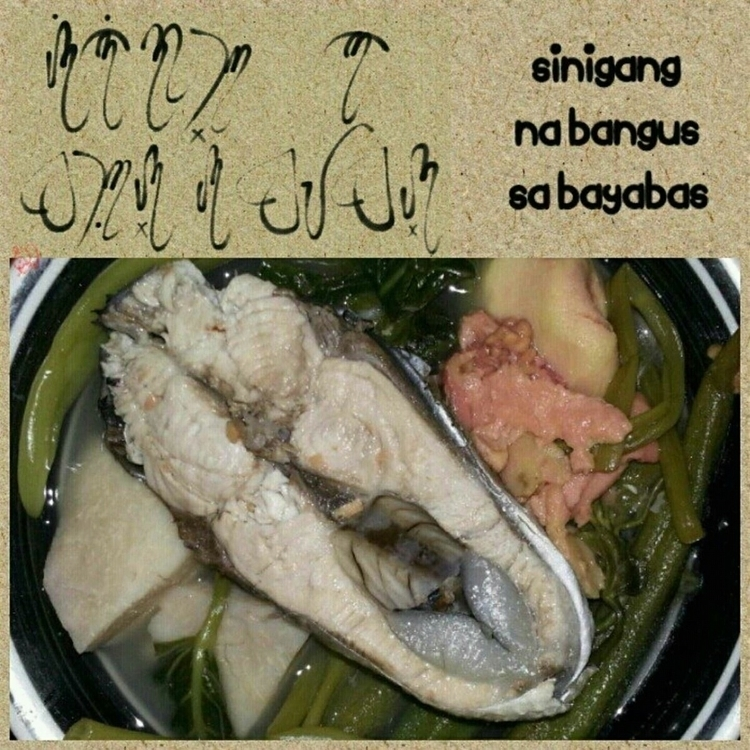 local dish. (Baybayin Script - jmagnosotto   ello