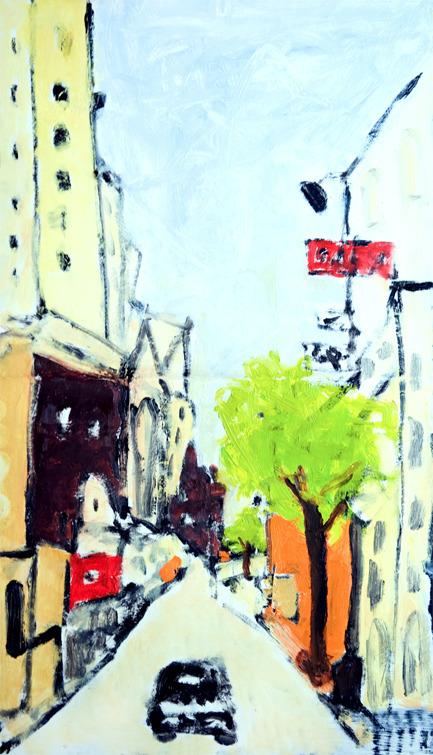 Rue Saint-Jacques, Paris Oil pa - nealturner | ello