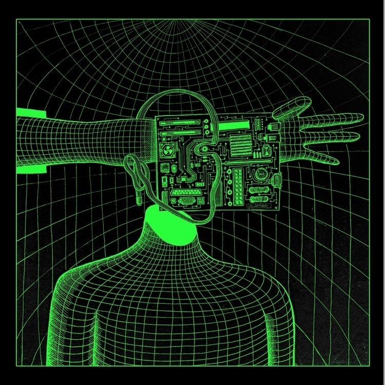 cyberdude - illustration, drawing - kredenswproszku | ello