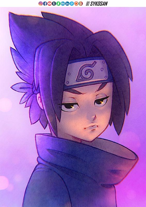 Sasuke Uchiha coloured.  - Naruto - sykosan | ello