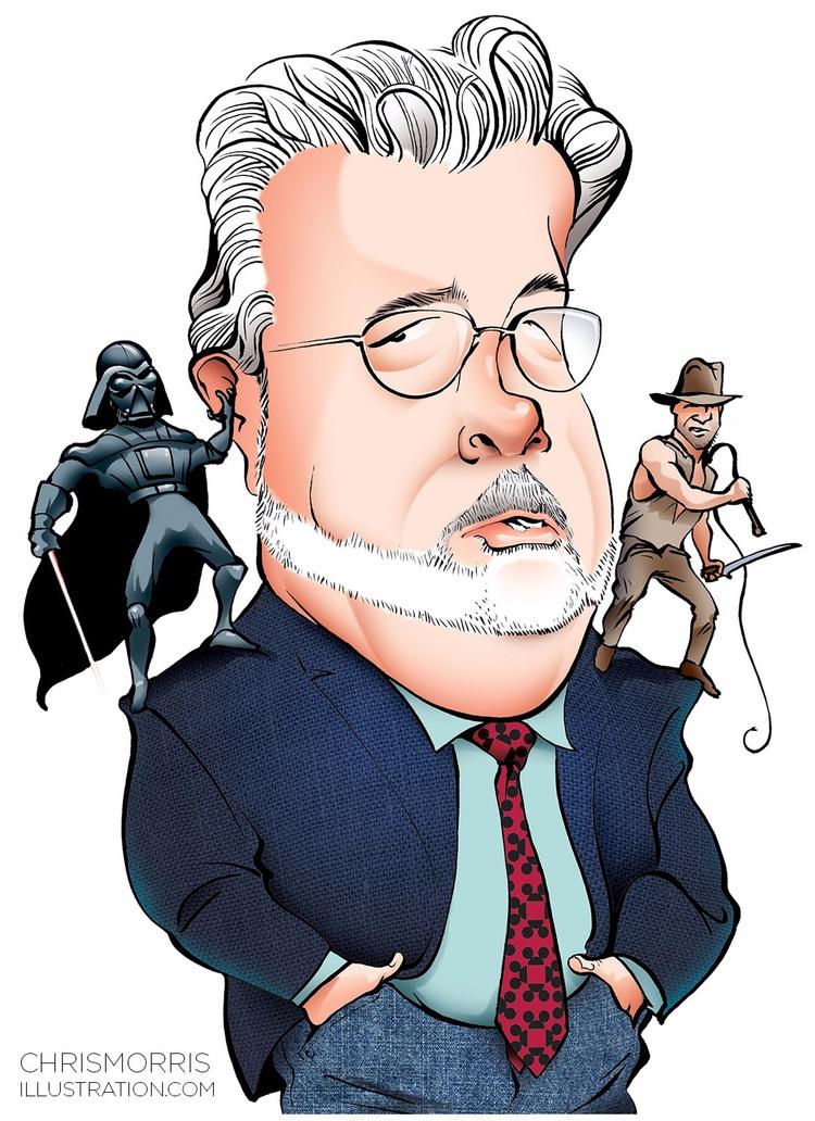 George Lucas - illustration, caricature - cmorris | ello