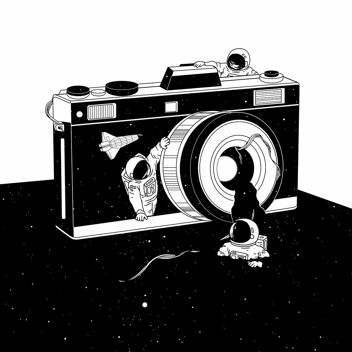 Captured Universe - illustration - normanduenas | ello