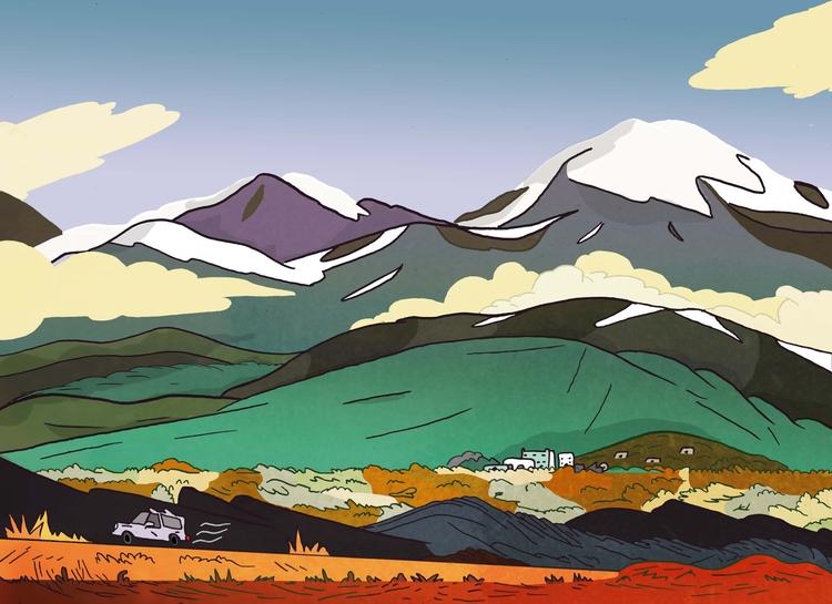Drive Santa Fe fe - drawing, illustration - dylansgriffith | ello
