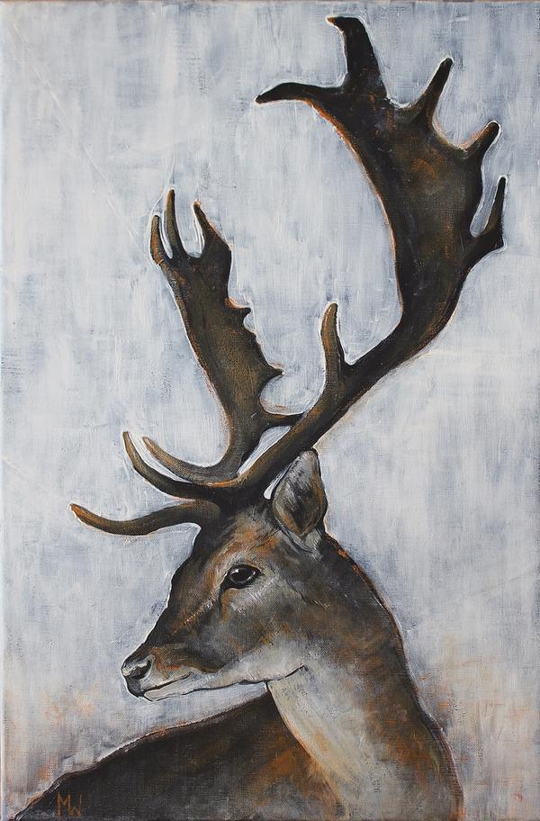 art, painting, deer - mora-morana | ello