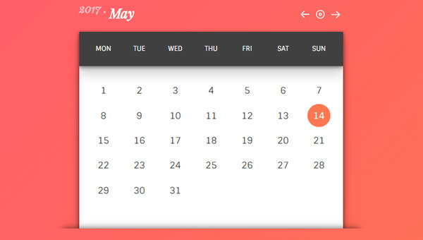 22 CSS Calendars Collection fre - freefrontend | ello