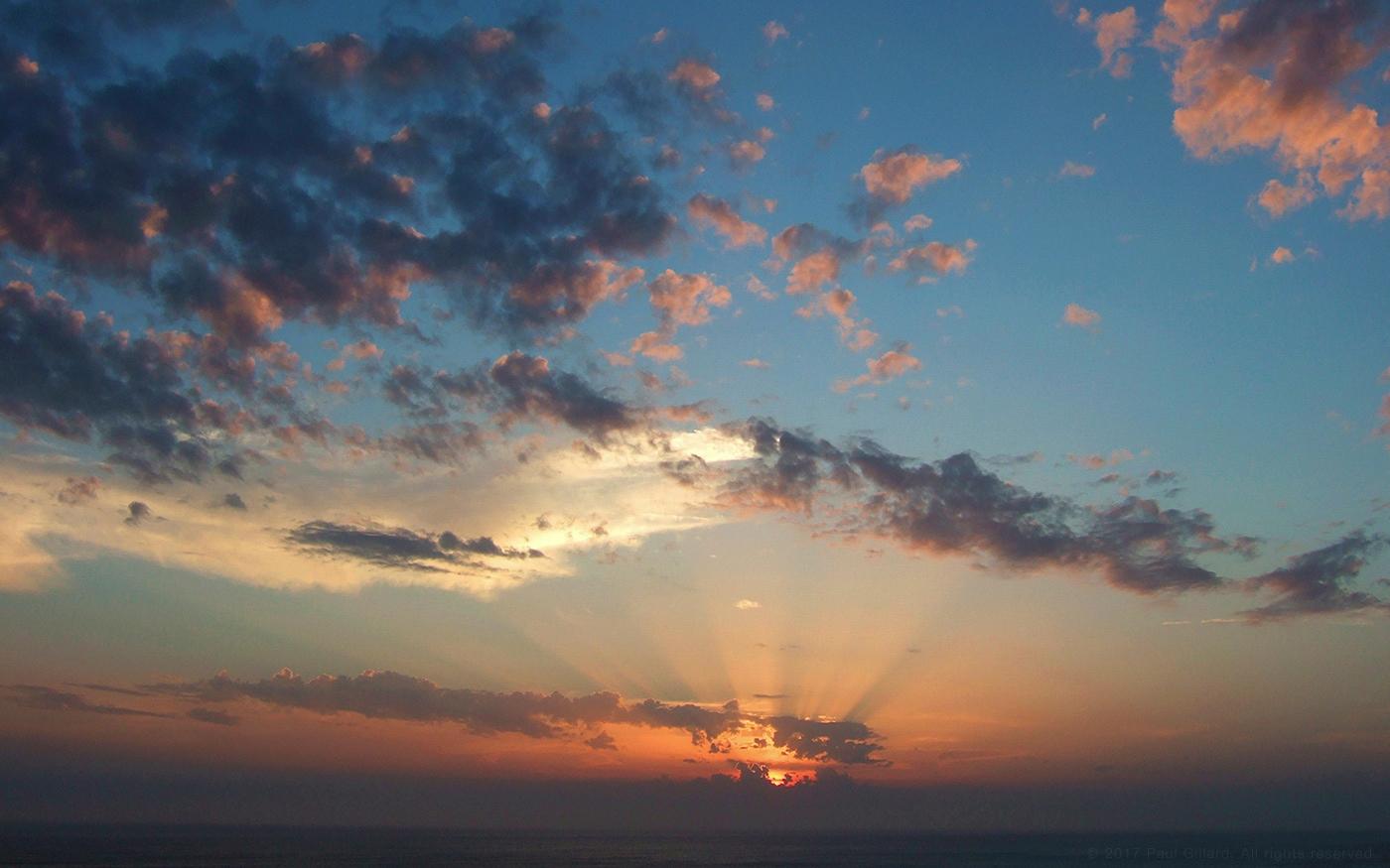 Title: 'Sunset sea - sunset, seascape - paulgillard   ello